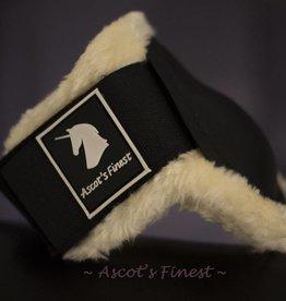 Ascot's Finest Sterke strijklappen met zachte vacht gevoerd - zwart