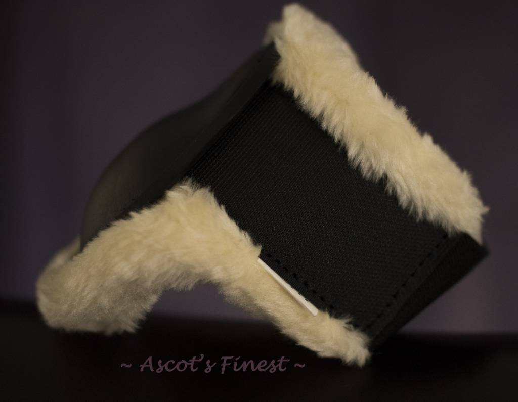 Ascot's Finest Sterke zwarte strijklappen met zachte vacht gevoerd – Maat Xfull, Full, Cob en Pony