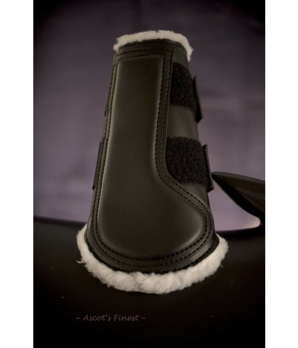 Ascot's Finest Leather front boots with soft artificial fur - Size XFull, Full and Cob