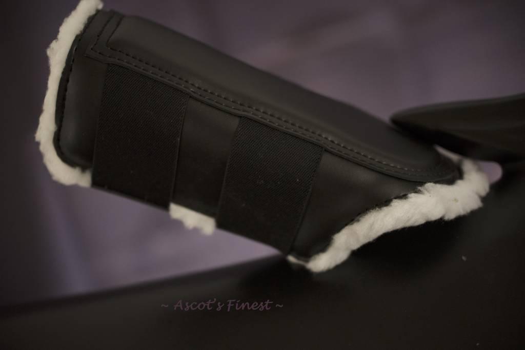 Ascot's Finest Lederen peesbeschermers met zachte vacht gevoerd Maat XFull, Full en Cob