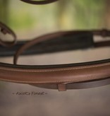 Ascot's Finest Brown English leather draught horse bridle