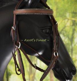 Ascot's Finest Mexicaans hoofdstel - Strass en bruin rundleder - Pony