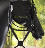 Ascot's Finest Jumping bridle - Figure 8 with rhinestones - Sizes Full and Pony