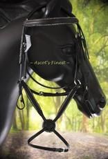Ascot's Finest Zwart Mexicaans strass hoofdstel - Maat Full en Pony