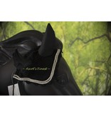 Ascot's Finest Ear bonnet with rhinestonsen gray coloured cord - Full, Cob and Pony