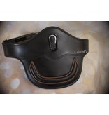 Ascot's Finest Black English leather girth with brown - 70 cm