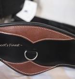 Ascot's Finest Zwart met kroko-print lederen singel - 130 cm