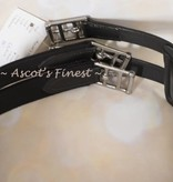 "Ascot's Finest Adjustable black leather girth - 36""- 44"""