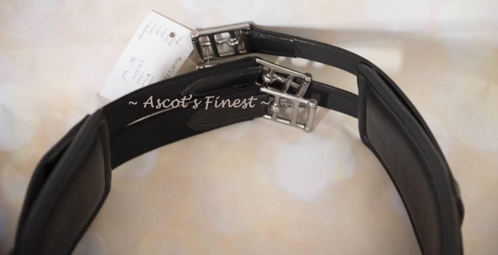 Ascot's Finest Verstelbare zwarte rundlederen - van 91 cm t/m 11 cm