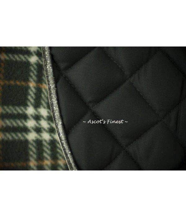 Ascot's Finest Dark green dressage saddle pad - Full