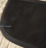 Ascot's Finest Zacht wit dekje met suède zadelstuk - Full