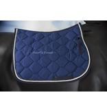 Ascot's Finest Royal Blue dressuur dekje met strass stenen - Full