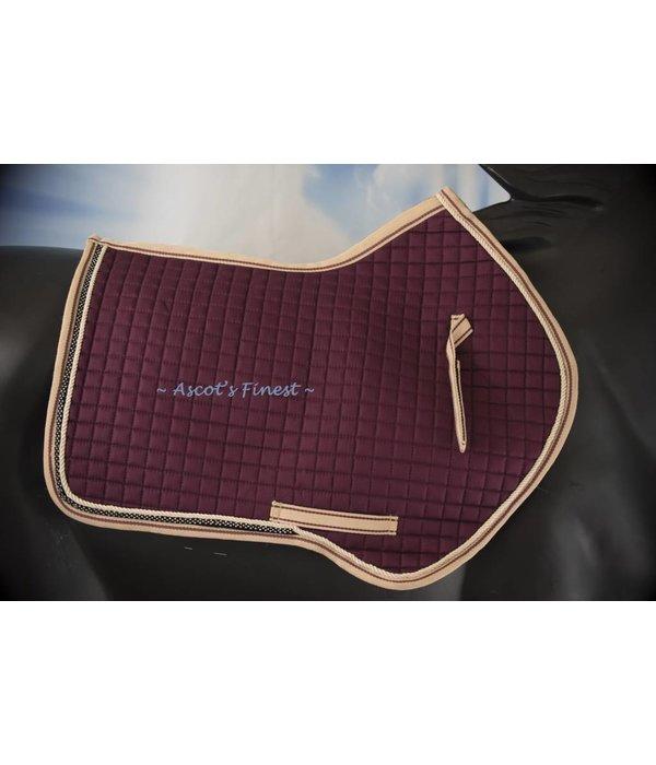 Ascot's Finest Reddish brown dressage pad - Full