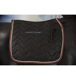 Ascot's Finest Black dressage saddle pad - Full
