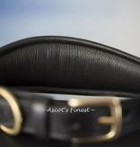 Ascot's Finest Brede, zwart rundlederen halsband - 50 cm