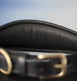 Ascot's Finest Wide, black English leather dog collar - 50 cm