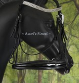 Ascot's Finest Zwart hoofdstel met anti-drukpunt kopstuk - Full en Cob