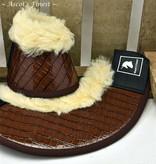 Ascot's Finest Springschoenen - Bruine Krokodil Maat M t/m XXL