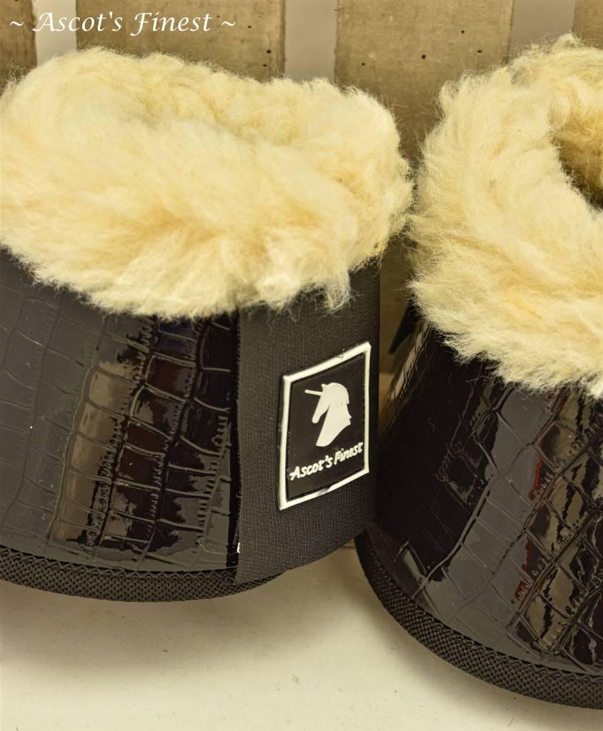 Ascot's Finest Springschoenen - Zwarte Krokodil Maat M t/m XXL