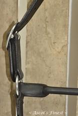 Ascot's Finest Zwart rundlederen halster met twee rijen strass - Ful, Cob en Pony