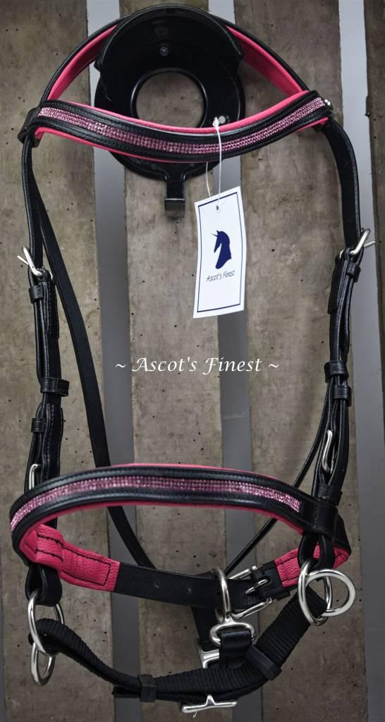 Ascot's Finest Rundlederen Bitloos Hoofdstel - Roze