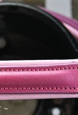 Ascot's Finest Nieuwe Roze rundlederen hoofdstel - Pony, Cob en Full