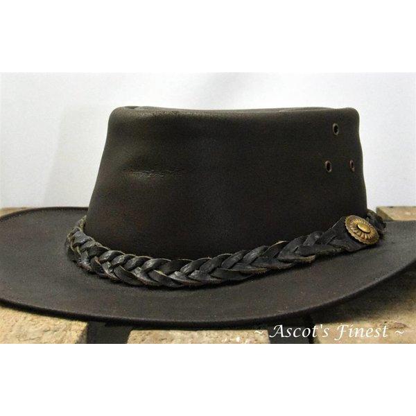 Donkerbruin rundlederen hoed