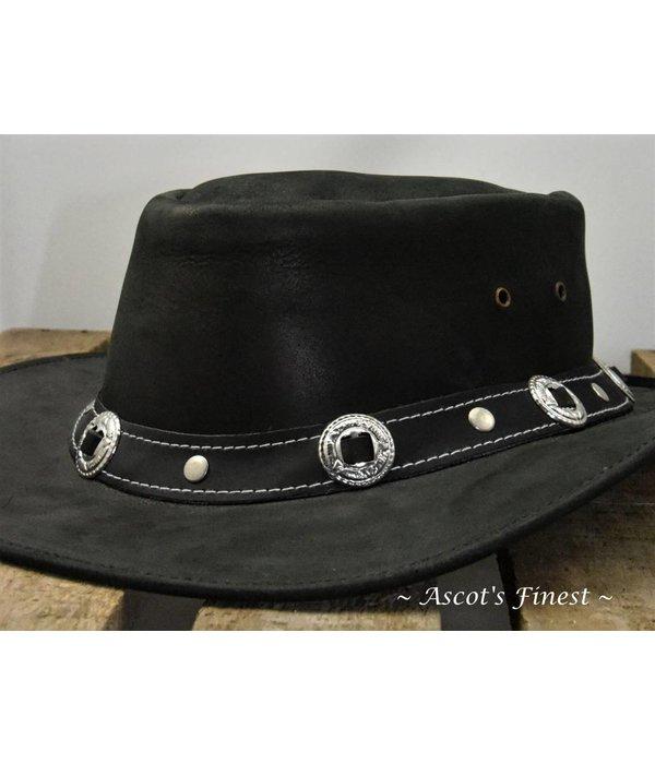 Ascot's Finest Zwart rundlederen hoed