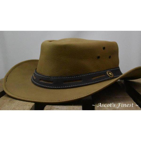 Beige rundlederen hoed