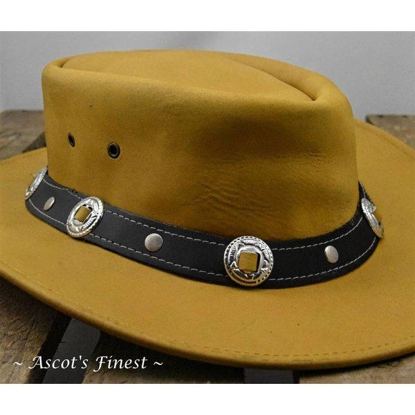 Lichtbruine rundlederen hoed