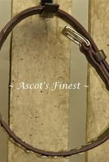Ascot's Finest Zwart lederen halsband met studs - 50 cm