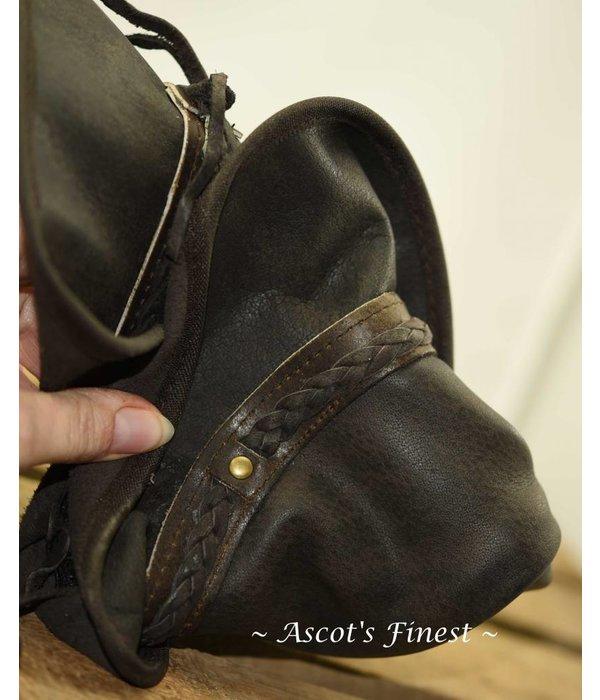 Ascot's Finest Donkerbruine opvouwbare hoed van rundleer