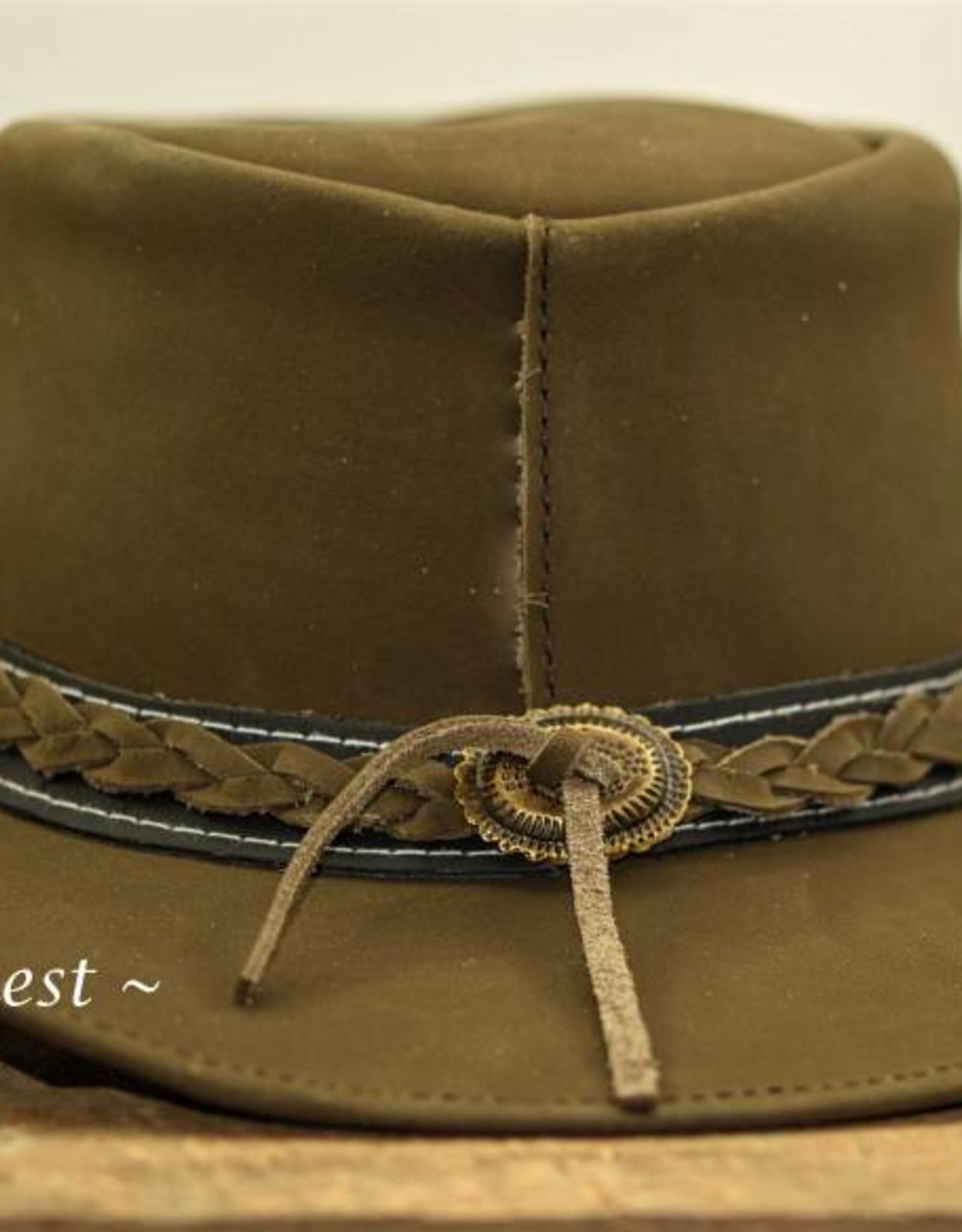Ascot's Finest Nubuck lederen hoed