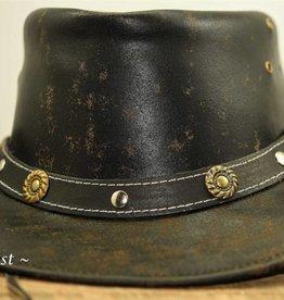 Ascot's Finest Donker gevlekte rundlederen hoed