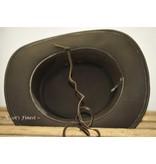 Ascot's Finest Donkerbruin rundlederen hoed met veter