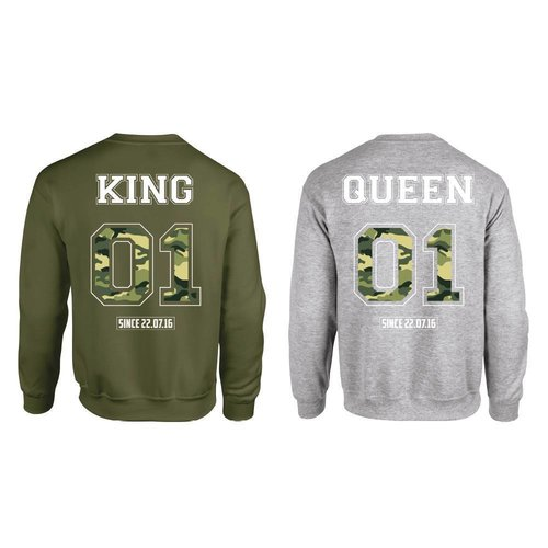 KING & QUEEN ARMY SWEATERS