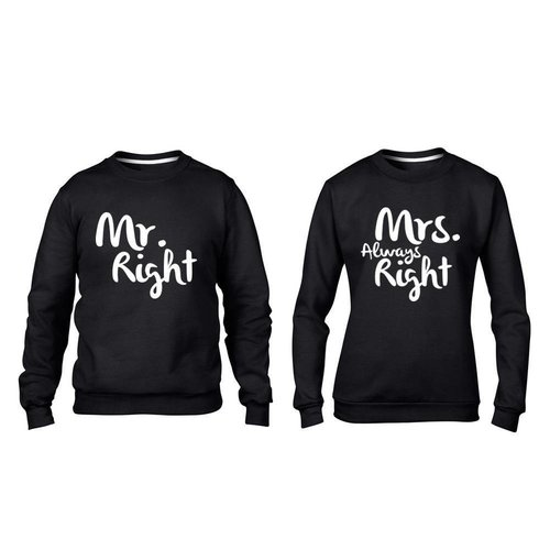 MR; MRS. RIGHT SWEATERS