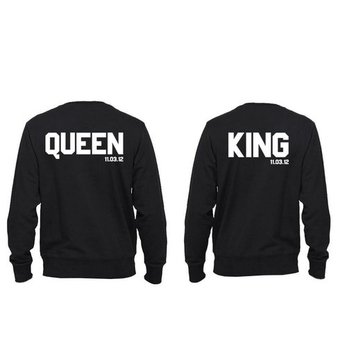KING EN QUEEN SWEATERS MET DATUM