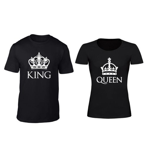 KING EN QUEEN MET KROON T-SHIRTS