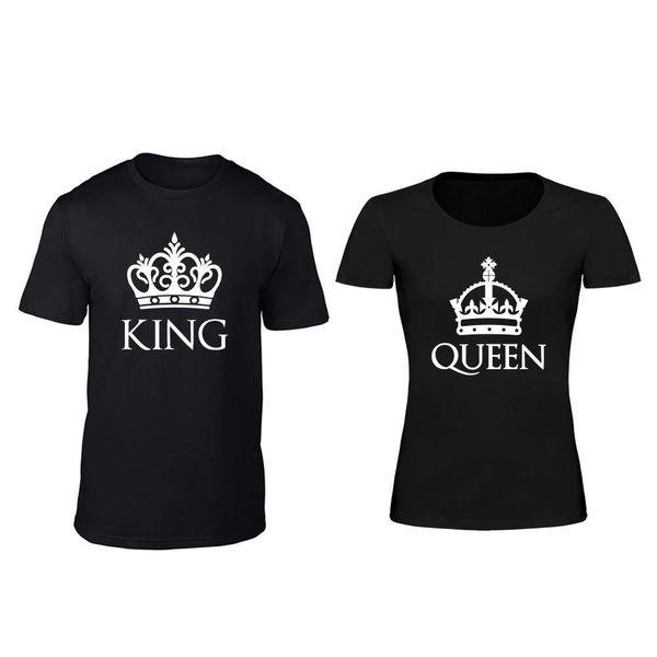 KING EN QUEEN MET KROON T-SHIRTS