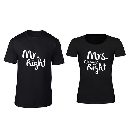 MR; MRS. RIGHT T-SHIRTS