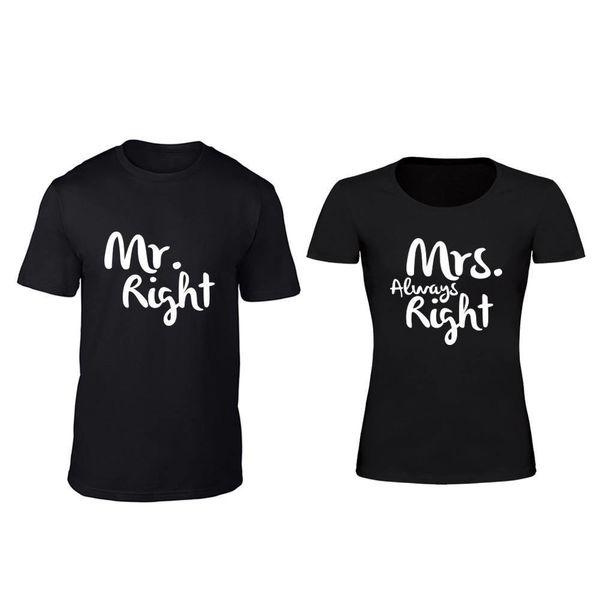 MR; MRS. RIGHT T-SHIRTS