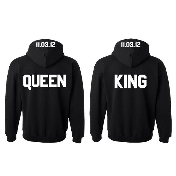 KING EN QUEEN HOODIES MET DATUM