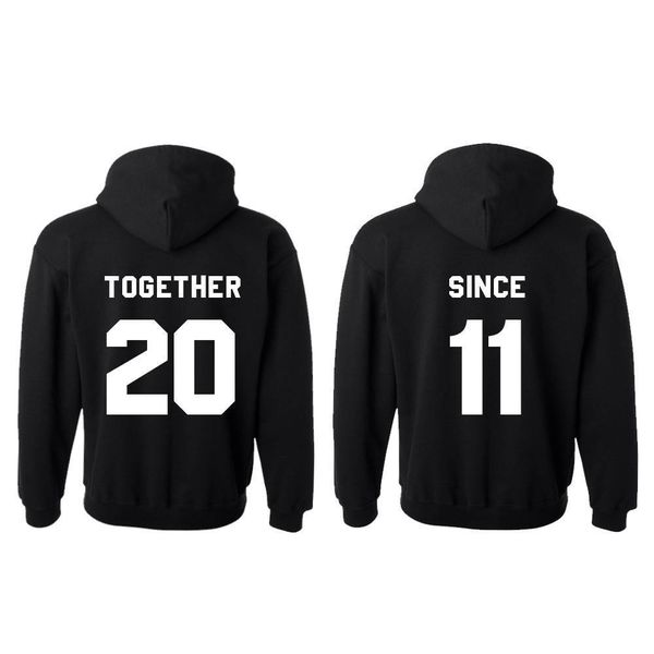 TOGETHER SINCE HOODIES MET RUGNUMMER