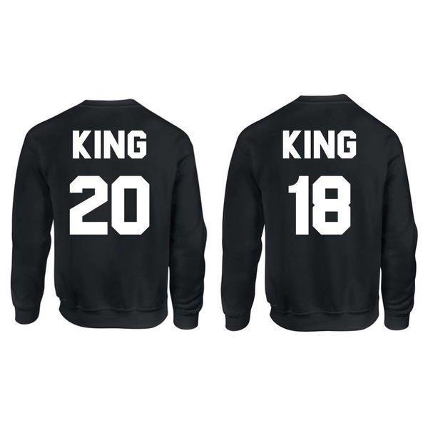 KING & KING SWEATERS MET RUGNUMMER