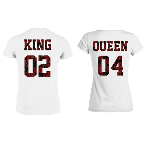 KING & QUEEN SHIRTS ROSES