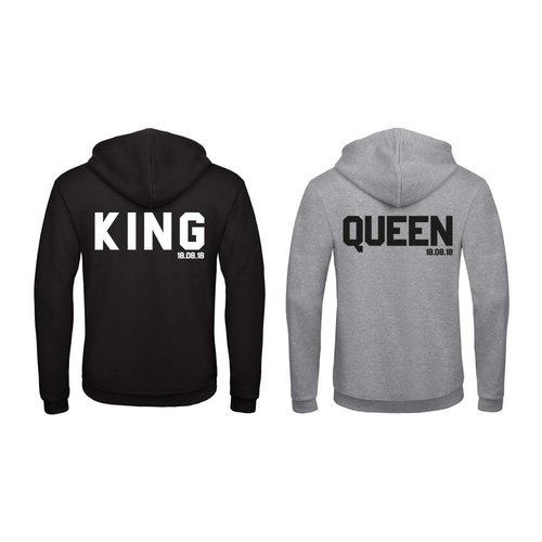 BASIC KING & QUEEN HOODIES MET DATUM