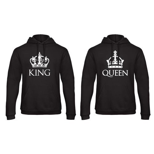 BASIC KING & QUEEN HOODIES MET KRONEN