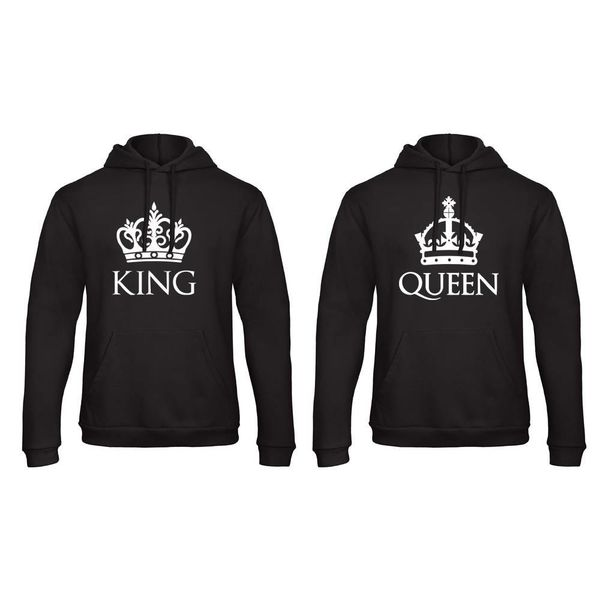 BASIC KING & QUEEN HOODIES SET MET KRONEN