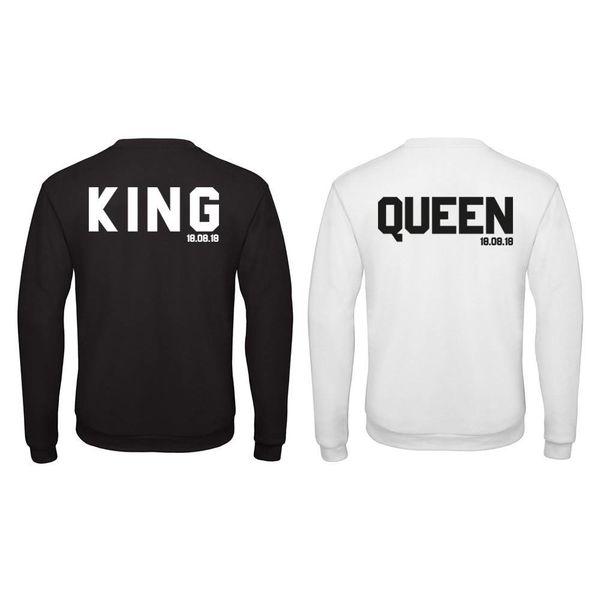 BASIC KING & QUEEN SWEATERS SET MET PERSOONLIJKE DATUM
